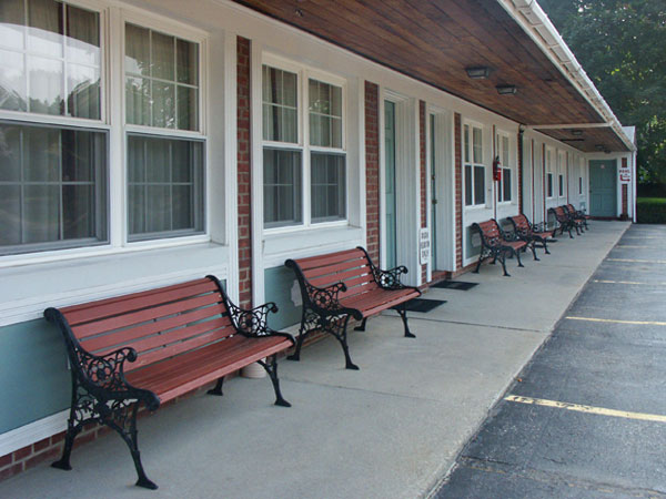 Benches Outside The Guest Rooms Bennington Vermont Motel